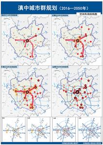 滇中城市群规划——空间布局结构图